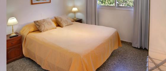 Habitación matrimonial en Hotel Santa Rosa